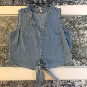 Lightweight denim (actually rayon/cotton) crop top
